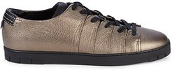 90 Metallic Leather Low-Top Sneakers