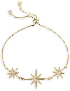 North Star 18K Goldplated Cubic Zirconia Chain Bracelet