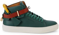 Trio Colorblock Leather High-Top Sneakers