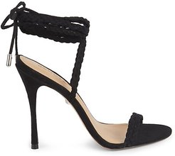 Lany Rope Wrap Leather Heels