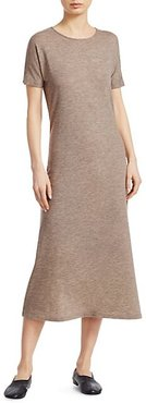 Padma Stretch Cashmere Marled Midi Dress