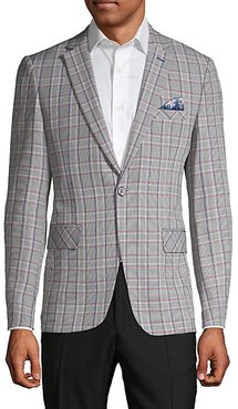 Standard-Fit Checkered Sportcoat