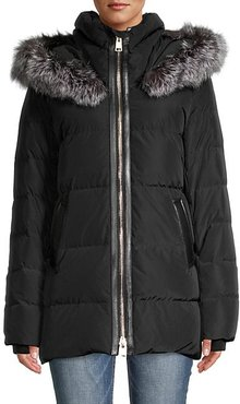 Nakiska Fox Fur-Trim Down Puff Jacket