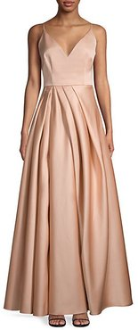 Beata V-Neck Pleated Gown