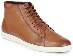 Grand Crosscourt Leather High Top Sneakers