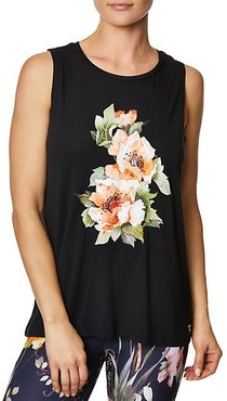 Stay Wild Floral Muscle Tank Top