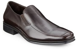 Pitto Leather Apron-Toe Loafers