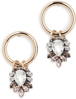 Earrings with Cluster Pendant