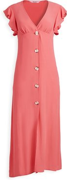 That's Amore Button Front Midi Dress