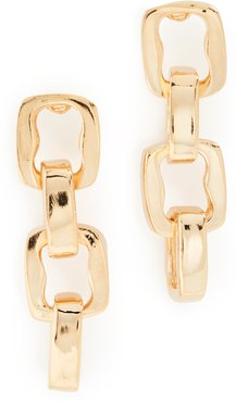 Polished Gold 4 Link Earrings