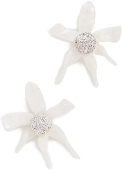 Water Lily Button Earrings
