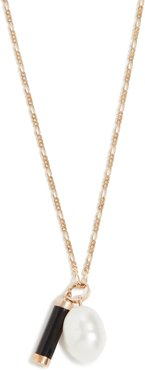 14k Pearl And Baril Pendant Necklace