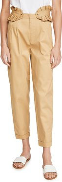 Chino Pants with Detachable Pleated Belt