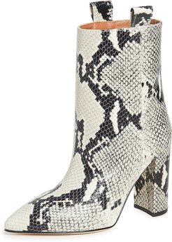 Snake Print Ankle Boots 100mm