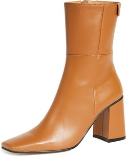 Pointed Square Basic Boots