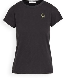Palm Tree Embroidered Tee