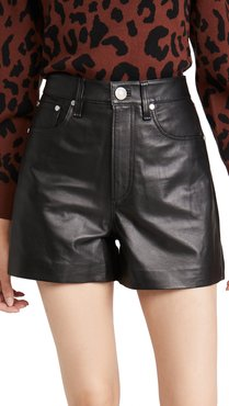 Super High Rise Leather Shorts