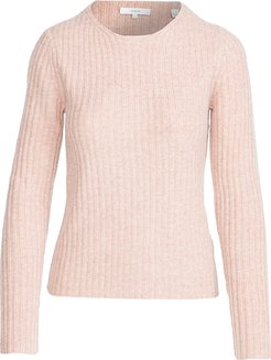 Fitted Ribbed Crew Sweater