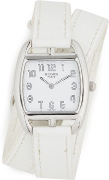 Hermes White Cape Cod Double Watch