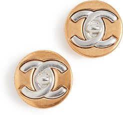 Chanel CC Round Earrings
