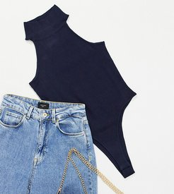 4th + Reckless Petite high neck knitted body two-piece in navy