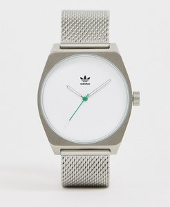 adidas M1 Archive mesh watch in silver