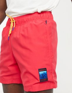 adiplore woven shorts in pink