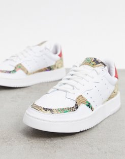 Supercourt sneakers in white and animal print