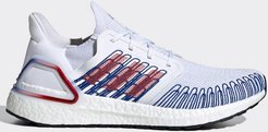 adidas Running ultraboost 20 trainers in white with stitch detail