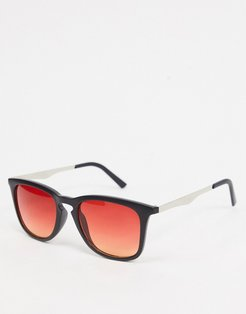 style sunglasses in black with amber lens