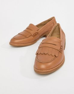 leather loafers-Tan