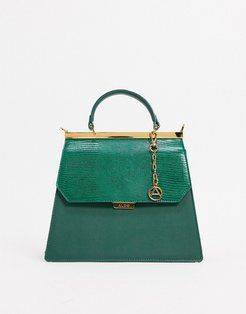 Ramelli structured cross body with grab handle in green
