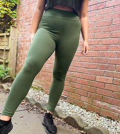 4505 Curve icon legging in cotton touch-Green
