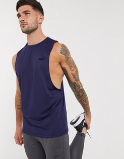 4505 icon training sleeveless t-shirt with dropped armhole in navy