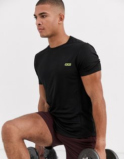 4505 icon training t-shirt with quick dry in black-Multi