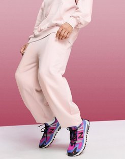 4505 oversized drop crotch sweatpants in pink