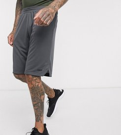 4505 Tall jersey workout shorts in dark gray-Grey