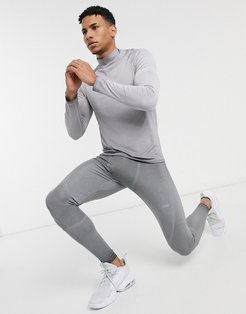 4505 training long sleeve T-shirt with oil wash-Grey