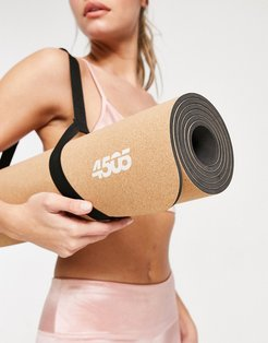 4505 yoga mat with non-slip cork and carrier strap-Neutral