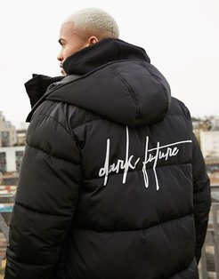 sustainable puffer jacket in black