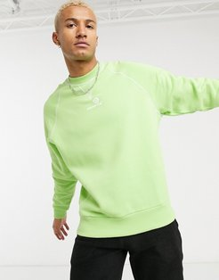oversized heavyweight sweatshirt with embroidered logo-Green