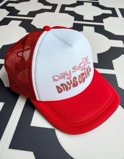 ASOS Daysocial trucker cap with scribble print-Multi