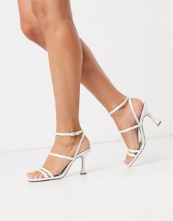Hailee mid-heeled sandals in ivory-Cream