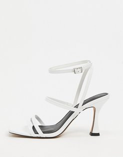 Hailee mid-heeled sandals in white