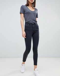 Ridley high rise skinny jeans in clean black