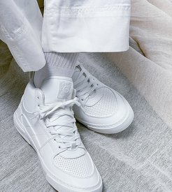 high top sneakers in white