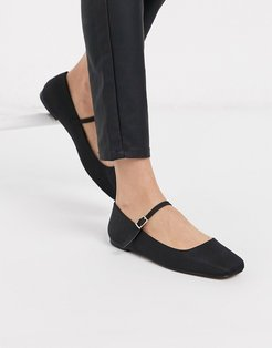 Late mary jane ballet flats in black