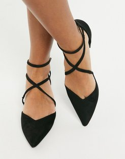 Leanna pointed ballet flats in black