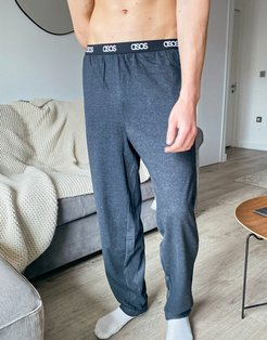 lounge pajama bottoms in charcoal-Grey