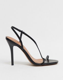 Nevada strappy heeled sandals in black